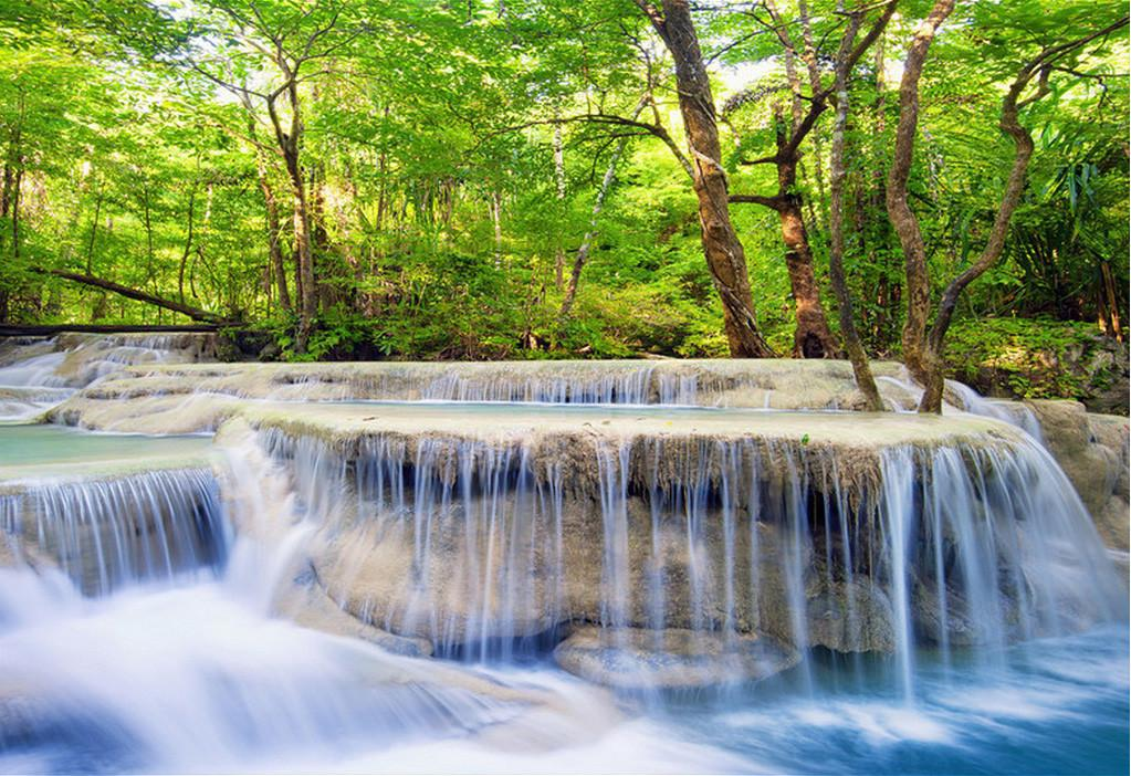3D Forest River Waterfalls 306 Garage Door Mural Wallpaper AJ Wallpaper