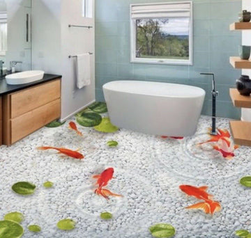 3D Goldfish Floor Mural