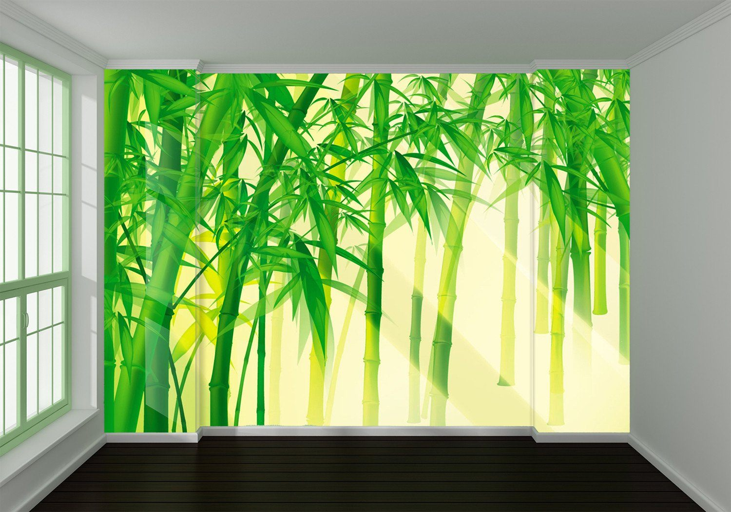 3D Sunshine Bamboo Forest 98 Wallpaper AJ Wallpapers