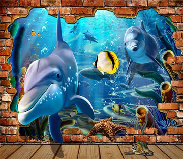 3D Swimming Dolphin 157