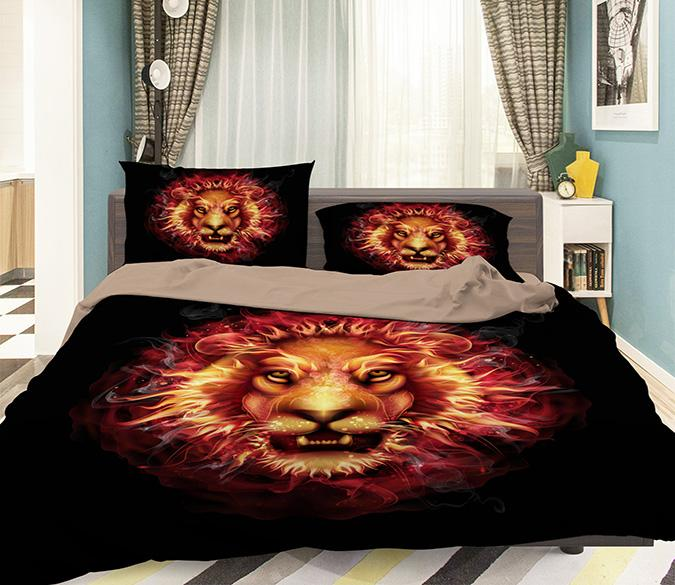 3D Lions Majesty 091 Bed Pillowcases Quilt Wallpaper AJ Wallpaper