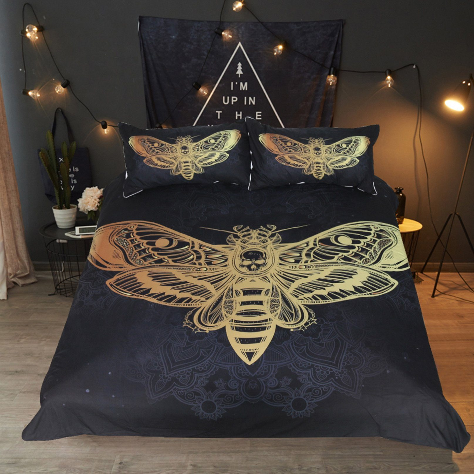 3D Hot Stamping Moth 190 Bed Pillowcases Quilt Wallpaper AJ Wallpaper