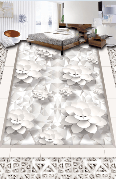 3D Blossoms Floor Mural - AJ Walls - 3