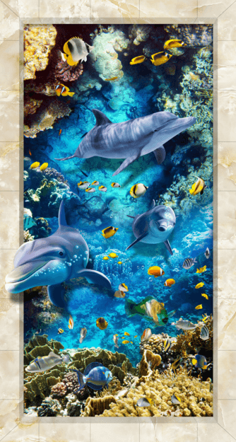 3D Coral Sea Floor Mural Wallpaper AJ Wallpaper 2