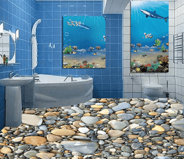 3D Small Stone 045 Floor Mural Wallpaper AJ Wallpaper 2