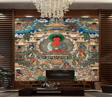 3D Tibetan Painting 1667 Wallpaper AJ Wallpaper