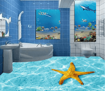 3D Starfish 038 Floor Mural Wallpaper AJ Wallpaper 2