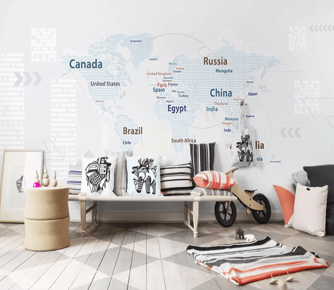 3D English Map 1246 Wallpaper AJ Wallpaper 2