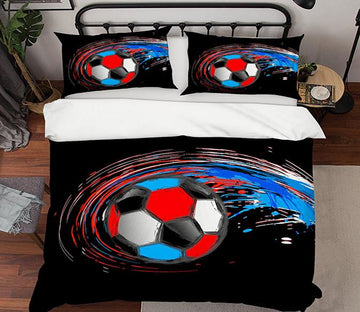 3D Air Football 137 Bed Pillowcases Quilt Wallpaper AJ Wallpaper