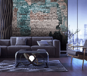 3D Brick Wall Faded 1109 Wallpaper AJ Wallpaper 2