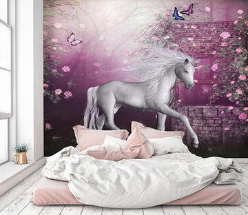 3D Butterfly Star Unicorn 269 Wallpaper AJ Wallpaper