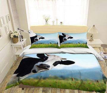 3D Grassland Cow 148 Bed Pillowcases Quilt Wallpaper AJ Wallpaper