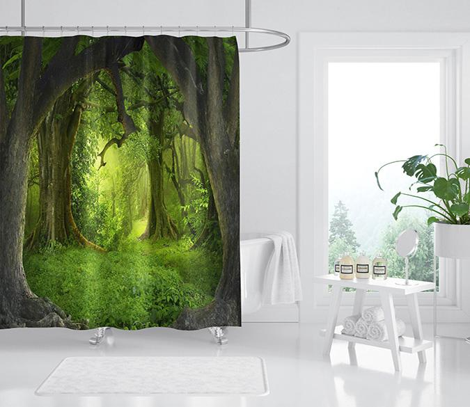 3D Deep Forest Lawn 113 Shower Curtain 3D Shower Curtain AJ Creativity Home