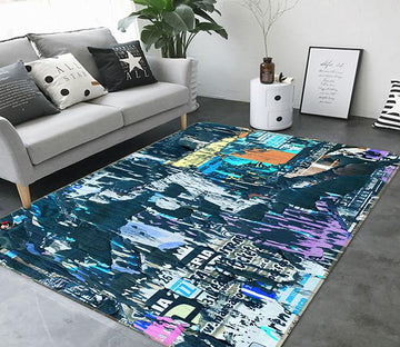 3D Abstract Ink 170 Non Slip Rug Mat