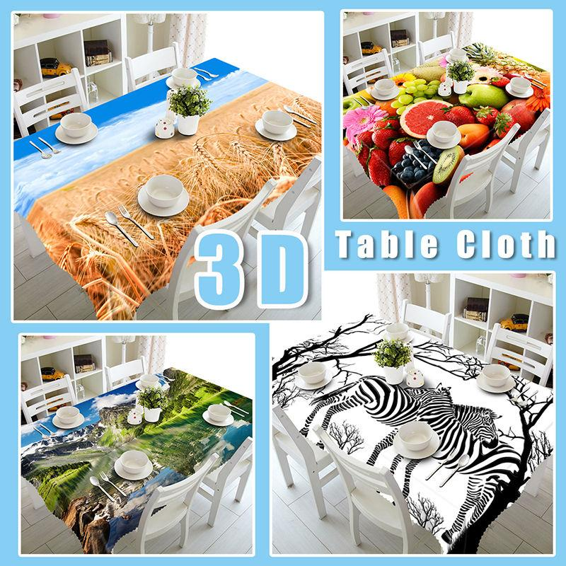 3D Beach Sunset Clouds 605 Tablecloths