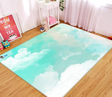 3D Ink Cloud 327 Non Slip Rug Mat Mat AJ Creativity Home