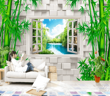 3D Bamboo Window 213