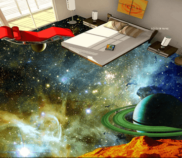 3D Beautiful Starry Sky 025 Floor Mural Wallpaper AJ Wallpaper 2