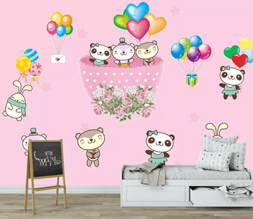 3D Balloon Cartoon Bear 1483 Wallpaper AJ Wallpaper 2