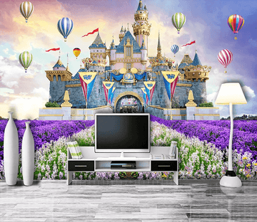 3D Castle Lavender 55 Wallpaper AJ Wallpaper 2