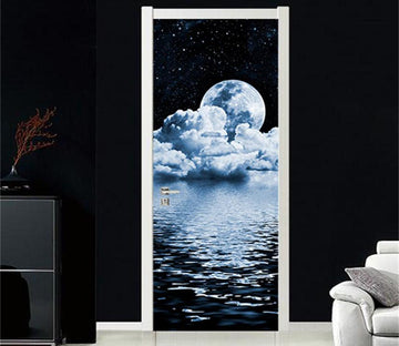 3D Cloud sea universe door mural Wallpaper AJ Wallpaper