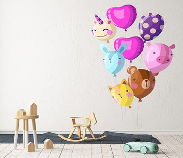 3D Animal Balloon 117 Wall Stickers Wallpaper AJ Wallpaper