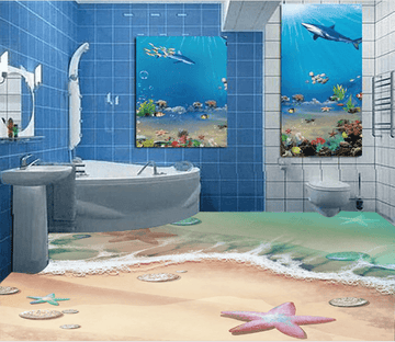 3D Beautiful Starfish 012 Floor Mural Wallpaper AJ Wallpaper 2