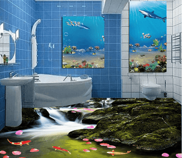 3D River Fish 051 Floor Mural Wallpaper AJ Wallpaper 2