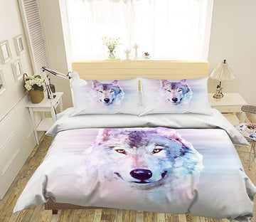 3D Gouache Wolf 245 Bed Pillowcases Quilt Wallpaper AJ Wallpaper