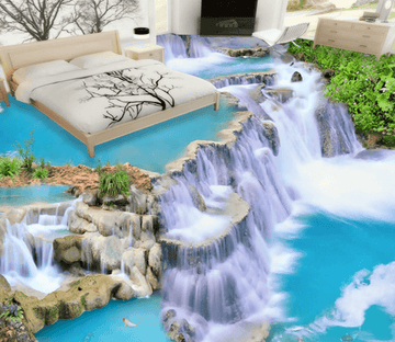 3D Cliff 067 Floor Mural Wallpaper AJ Wallpaper 2