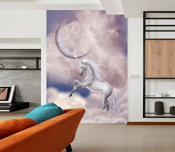 3D Crescent Moon Unicorn 348