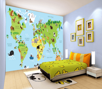3D Animal Map 037 Wallpaper AJ Wallpaper