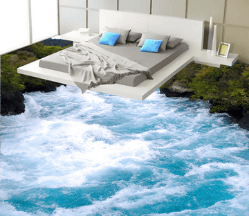 3D Waves Surge 191 Floor Mural Wallpaper AJ Wallpaper 2