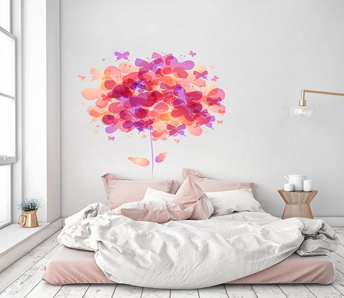 3D Transparent Red Butterfly 140 Wall Stickers Wallpaper AJ Wallpaper