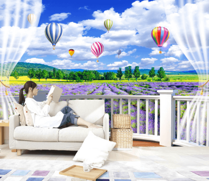 3D Lavender Field 1629 Wallpaper AJ Wallpaper 2