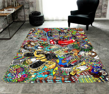 3D Exaggerated Mouth 117 Non Slip Rug Mat Mat AJ Creativity Home