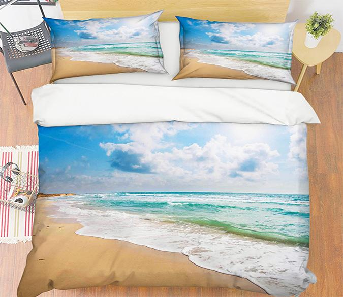 3D Seaside Beach 087 Bed Pillowcases Quilt Wallpaper AJ Wallpaper