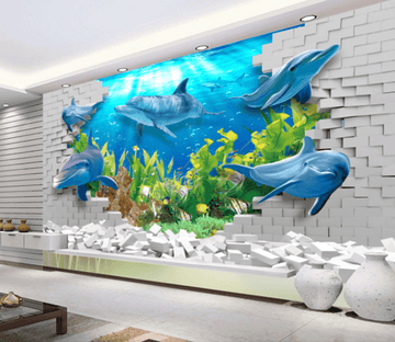3D Wall Dolphin 209