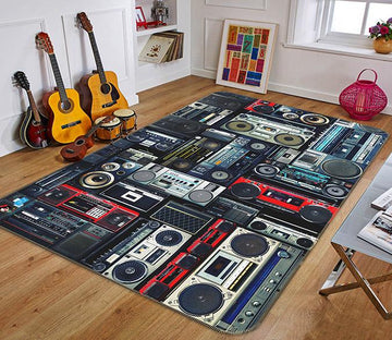 3D Audio Music 106 Non Slip Rug Mat