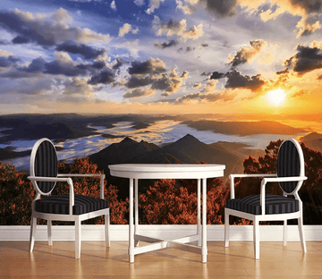 3D Sunset Mountain View 1113
