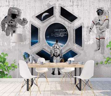 3D Astronauts Flying 271 Wallpaper AJ Wallpaper 2