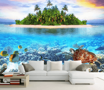 3D Islands Sea World 1047 Wallpaper AJ Wallpaper 2