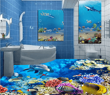 3D Beautiful Deep Sea 020 Floor Mural Wallpaper AJ Wallpaper 2