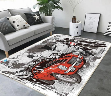 3D Painting Bridge Car 652 Non Slip Rug Mat Mat AJ Creativity Home