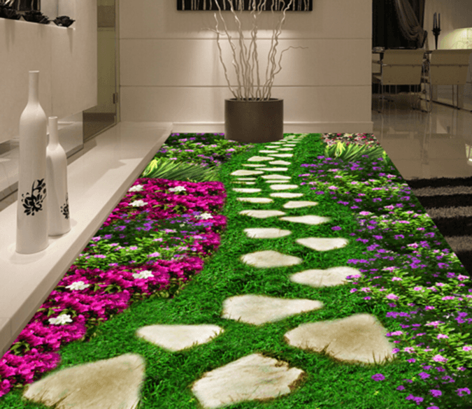 3D Grass Floor 005 Floor Mural Wallpaper AJ Wallpaper 2