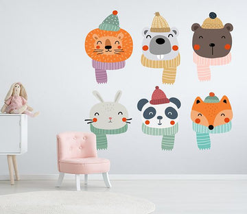 3D Animal Head Scarf 154 Wall Stickers Wallpaper AJ Wallpaper