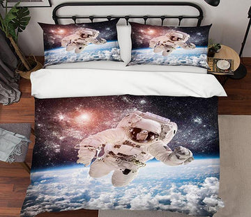 3D Space Astronaut 146 Bed Pillowcases Quilt Wallpaper AJ Wallpaper
