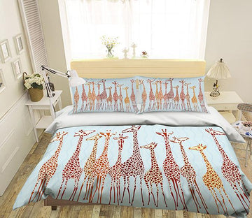 3D Giraffe Pattern 252 Bed Pillowcases Quilt