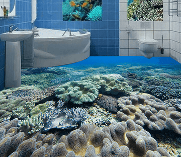 3D Deep Sea Stones 193 Floor Mural Wallpaper AJ Wallpaper 2