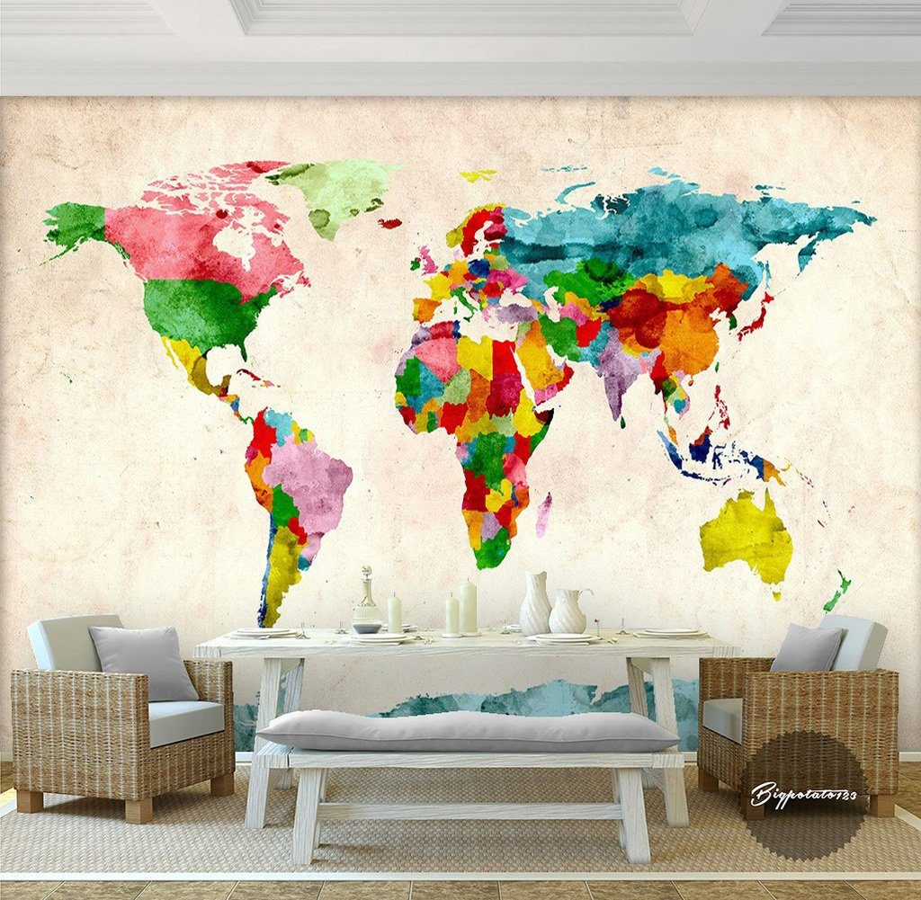 3D Abstract Map 226 Wall Murals Wallpaper AJ Wallpaper 2